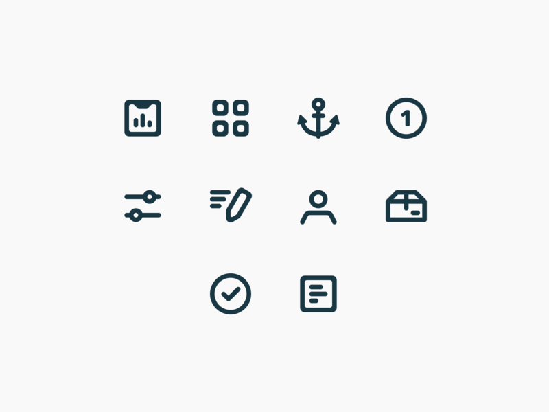 Closelink – Product Icons  #3 vector mobile identity product design icon set icon web interface brand identity brand ui ux figma flat design branding