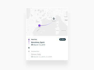 Vessel Tracking Widget product design product mobile tracking ship vessel widget web sketch interface figma flat design ux ui