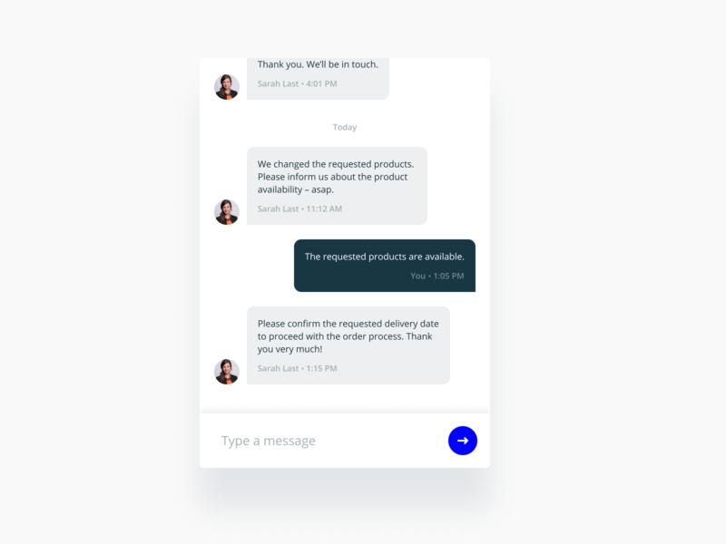 Chat Widget sketch widget web product design message chat product interface figma flat ux ui design