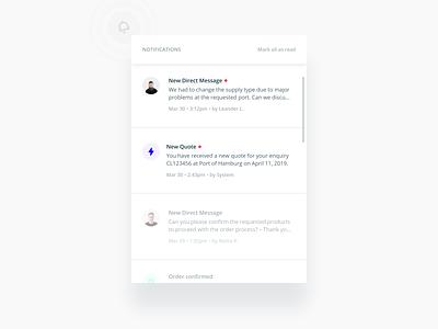 Notifications sketch mobile interface web flat figma ux design ui product design updates notifications notification center