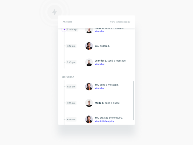 Activity event widget mobile product change changelog activity product design interface web flat ux ui figma design