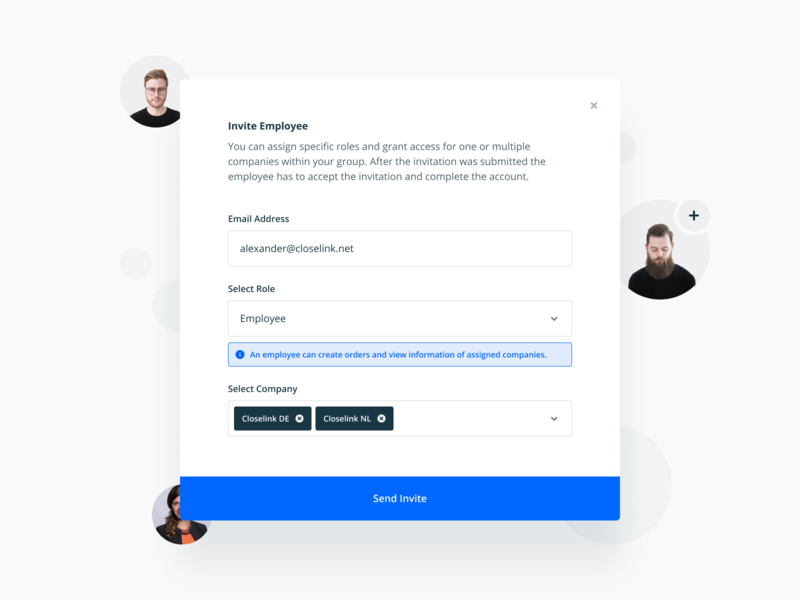 Access Management – Invite Feature icon interaction popup overlay invite product product design sketch interface web mobile figma design flat ux ui