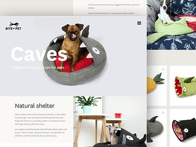 BITE my PET website product page webdesign design animal cat dog pet
