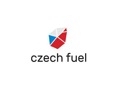 Czech fuel branding logotyp logo flag coal fuel czech
