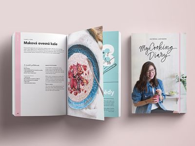 My Cooking Diary BOOK food recipe graphic design layout diary cooking cookbook cook book