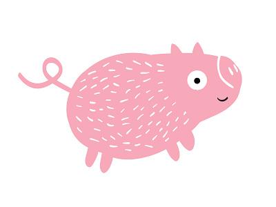 Piggy mascot brand illustration animal macot pink pig piggy