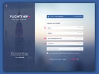 Flightship Signup Page