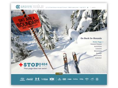 Copper Mountain Website ~ 404 Error Page  dailyui 404 008