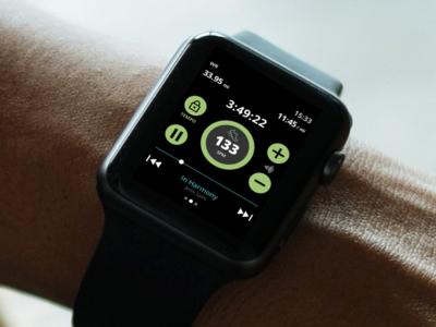 Apple Watch Audio Player Concept audio player dailyui watch 009