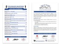 CMRA race schedule