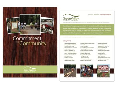 GreenValley Community Commitment information sheet flyer