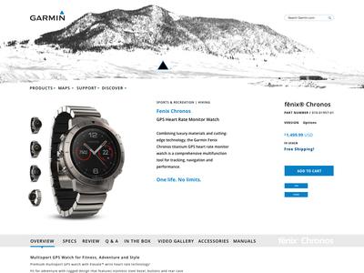 Garmin website (concept) concept