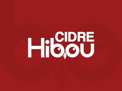 Cidre Hibou Logo Design french alcohol cute adorable typography logo owl logo owl illustration circular grid circle creative logo cidre logo