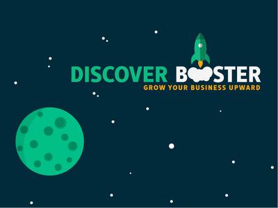 Discover Booster Logo vector background vector minimalist marketing business smoke rocket logo flatdesign animation illustration circular grid circle logo creative