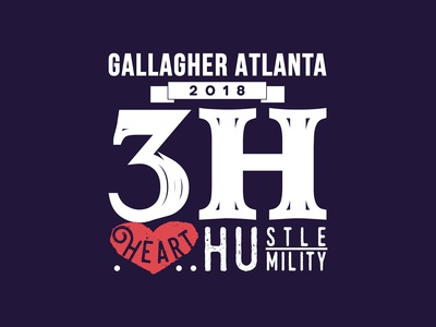 Typographic Poster Design for Gallagher Atlanta