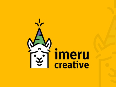 Llama Logo design for Imeru Creative