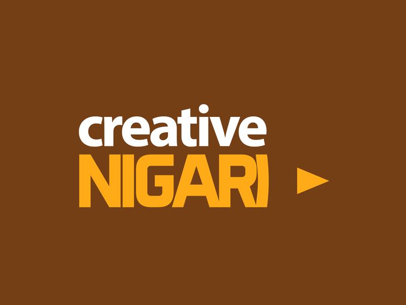 Logo Design for Creative Nigari pencil logo pencil logo design concept logo design typographic design typographic copywriting copywriter logo