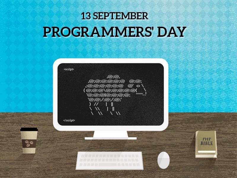 Calendar Illustration Job : Programmer s day by holy sheep dribbble