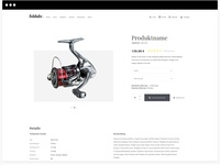 Product page eCommerce concept for fishing tackle product flat design app sketchapp exploreui webdesign ux ui uidesign minimal graphicdesign