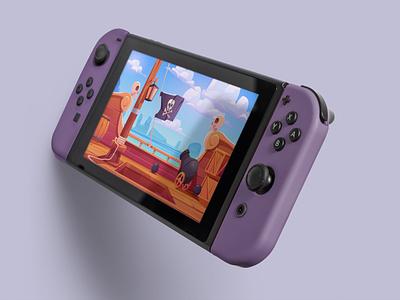 Switch Mockup with editable colors purple app mockup app design level design nintendo console gaming mock-ups photoshop realistic psd mockups branding mock-up mockup