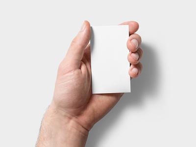 Handheld Business Card Mockup (1 of 5) photoshop visiting card hand handheld business card mockup bizcard paper card scene psd realistic mockups branding mock-up mockup