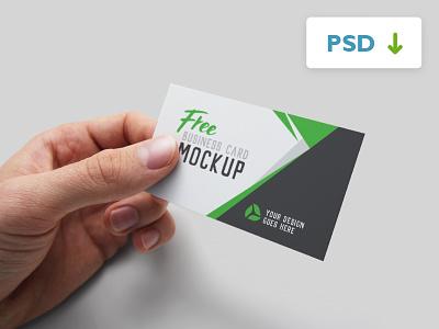 Free Business Card Mockup hands handheld psd realistic stack printed mock-up. print bizcard business businesscard mockup card