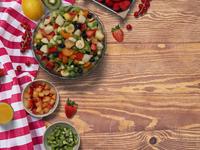 Fruitsalad table