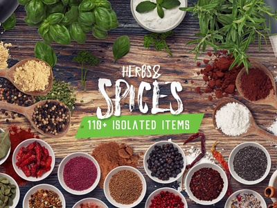 Spices - Isolated Food Items