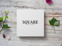 Blank Square Box Mockup