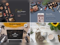 Beauty & Cosmetic Mockup Scenes