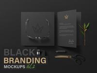 Black Branding Mockups Vol.2