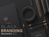 Black Branding Mockups Vol.3