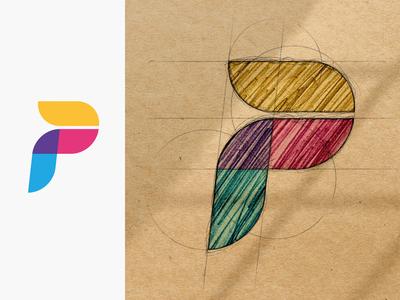 Sketch Effect Logo Mockup
