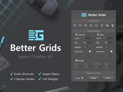 Better Grids (Photoshop CC2015+ Addon)
