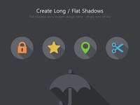 Create Long/Flat Shadows with Shadowify