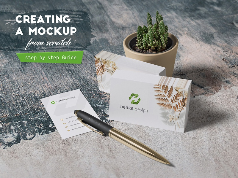 Creating a mockup from scratch (Guide) tutorial photography colorize objects pen logo card mockup business card mockup template photoshop realistic creating explained guide blog learn how to article brand design branding mock-up mockup