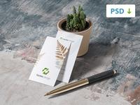 Free Business Card Mockup 2/4