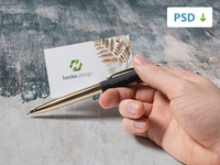 Free Business Card Mockup 3/4
