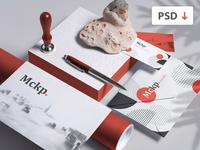 Free Branding Set Mockup