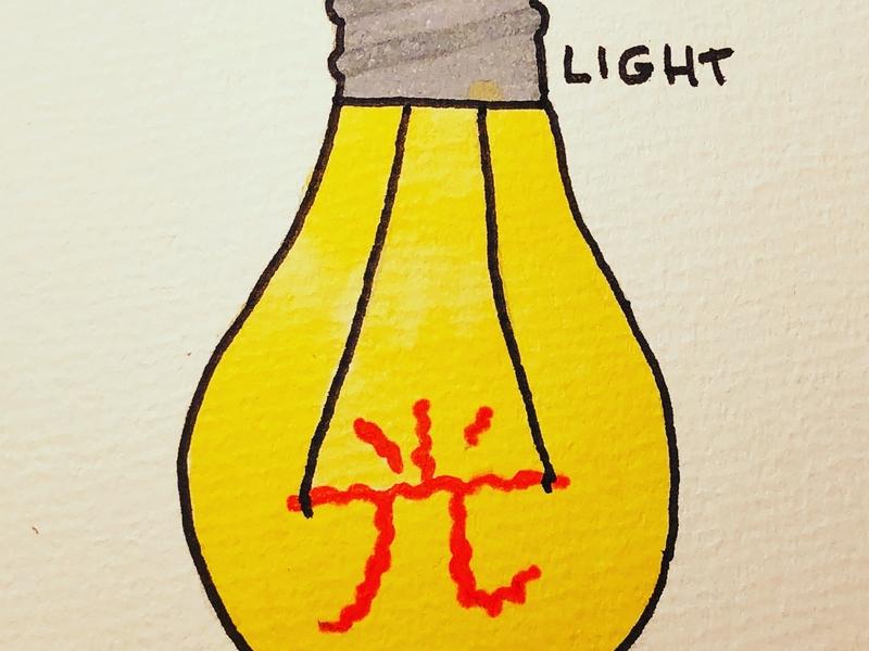 光 Light japanese kanji inktober drawing calligraphy illustration light 光