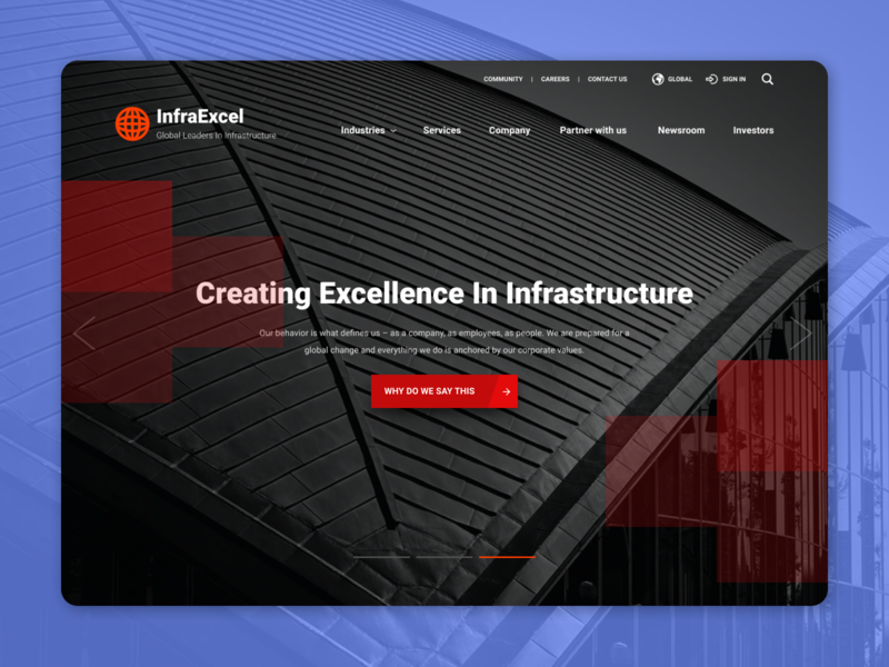 Infrastructure Web Site responsive layout branding typography ux responsive wireframe design responsive design design website art direction ui
