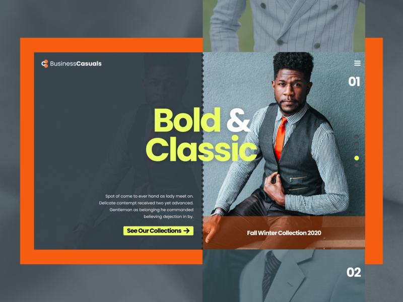 Business Wear Concept Exploration responsive layout branding typography ux responsive wireframe design responsive design design website art direction ui business