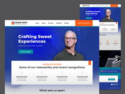 Home Page Exploration blue bold ux typography web responsive layout responsive design design website art direction ui