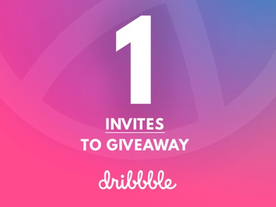One Dribbble Invites to Share logo motion graphics responsive web animation icon minimal ui wireframe design typography branding ux design illustration art direction website uidesign dribbble invitation dribbble invite dribbble