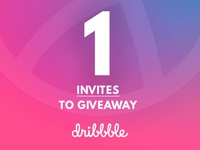 One Dribbble Invites to Share