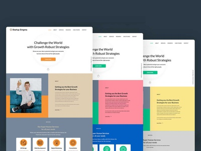 Startup Enigma an Adobe XD theme neat clean adobe xd adobexd minimalism template digital product art direction ui kits webdesign agency website startup website ui design ui kit website theme responsive design responsive design ui website