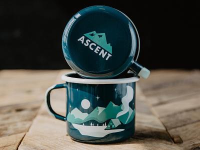 Mountain Scene pt. 3 - The Mugs camp vinyl vector scene mountain illustration mugs design