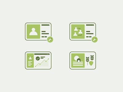 More WIP Icons farm person icon ux design vector design illustrator illustration