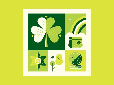 March vector 2019 coin daffodil clover illustration