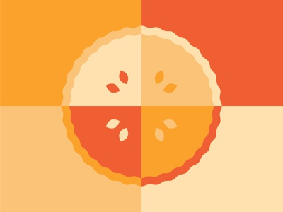 Pi(e) Day 2019 orange color colour illustration illustrator pi pie